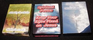 3 Deck Set of Christian Meditation Cards: Discounted