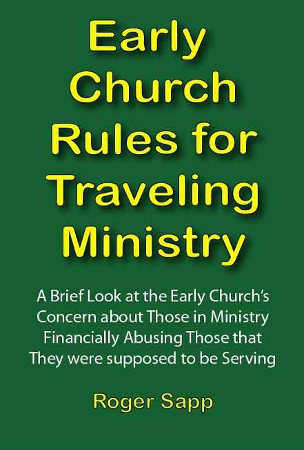 Early Church Rules for Traveling Ministry: eBook